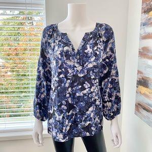 Silk Floral HI-LO Blouse